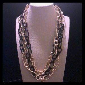Jewelry - !!NEGOTIABLE!! Black and gold chain necklace
